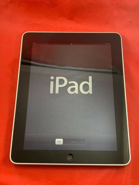 Nice Apple iPad 1st Gen 16GB Wi-Fi 9.7in Black Tablet MB292LL/A A1219 Original 1