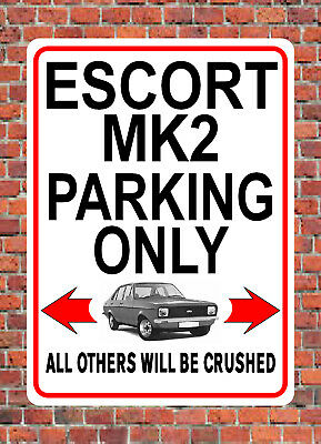 FORD GRANADA PARKING ONLY metal SIGN NOTICE classic mk2 mk 2 ghia x car plaque