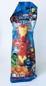 Vintage 2010 KLIK Au'Some Candies IRON MAN Candy container bubble gum PEZ Poly