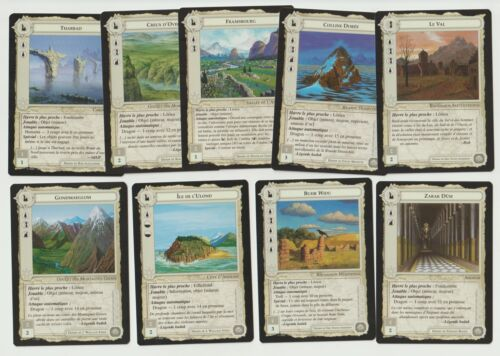 Dragons FR n°2 MECCG Lot of 9 cards Site