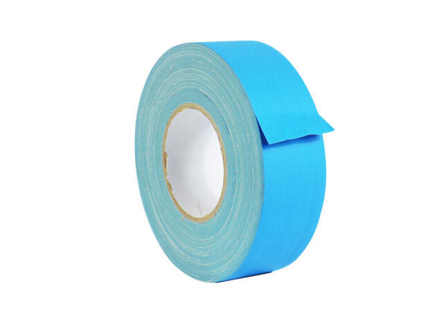 WOD Gaffer Light Blue Tape 2 inch x 60 yards Strong No Residue LOW GLOSS FILM