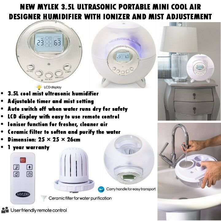 NEW MYLEK 3.5L ULTRASONIC PORTABLE MINI COOL AIR DESIGNER