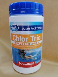 Chlor Azuro Chlor Trio,Desinfektion/Flockung für Pool/Wasserwartung, 200g