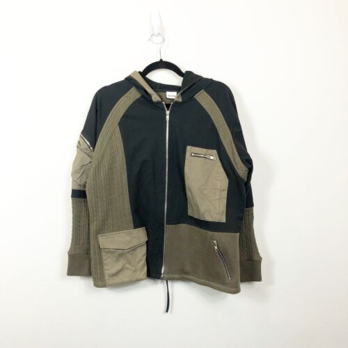 Together Green Black Cargo Military Jacket 1X