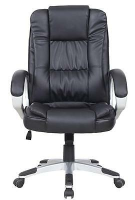 HIGH BACK LUXURY EXECUTIVE COMPUTER STUDY OFFICE DESK CHAIR  BLACKK8319