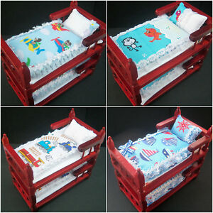 Handmade Miniature 112th scale dolls house BEDDING for BUNK BED  various - Wigan, United Kingdom - Handmade Miniature 112th scale dolls house BEDDING for BUNK BED  various - Wigan, United Kingdom