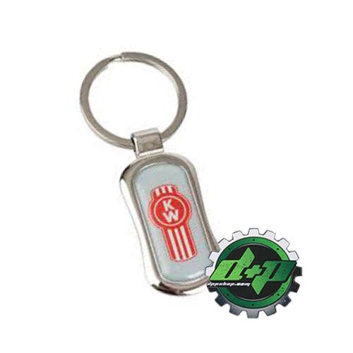 kw kenworth truck Chrome trucker fob key chain holder logo ring keychain