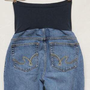 7038f3986635f Image is loading Motherhood-Maternity-Jeans-with-Full-Panel-Size-S