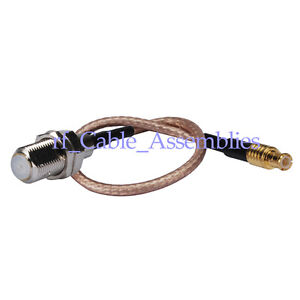 F-Type-Jack-Female-to-MCX-plug-straight-pigtail-RF-cable-RG316-15cm-for-Wireless