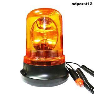 Lampeggiante-Segnalatore-Emergenza-Rotante-Calamita-Magnetico-Auto-Trattore-12V