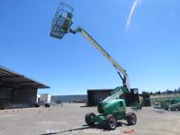 2008 JLG 600A 60' Diesel 4X4 Articulating Boom Lift Aerial Work Platform bidadoo
