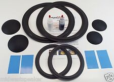 "JBL 4315 4315A 4315B - 12"" Woofer & 8"" Mid Foam Speaker Repair Kit w/ Dust Caps!"