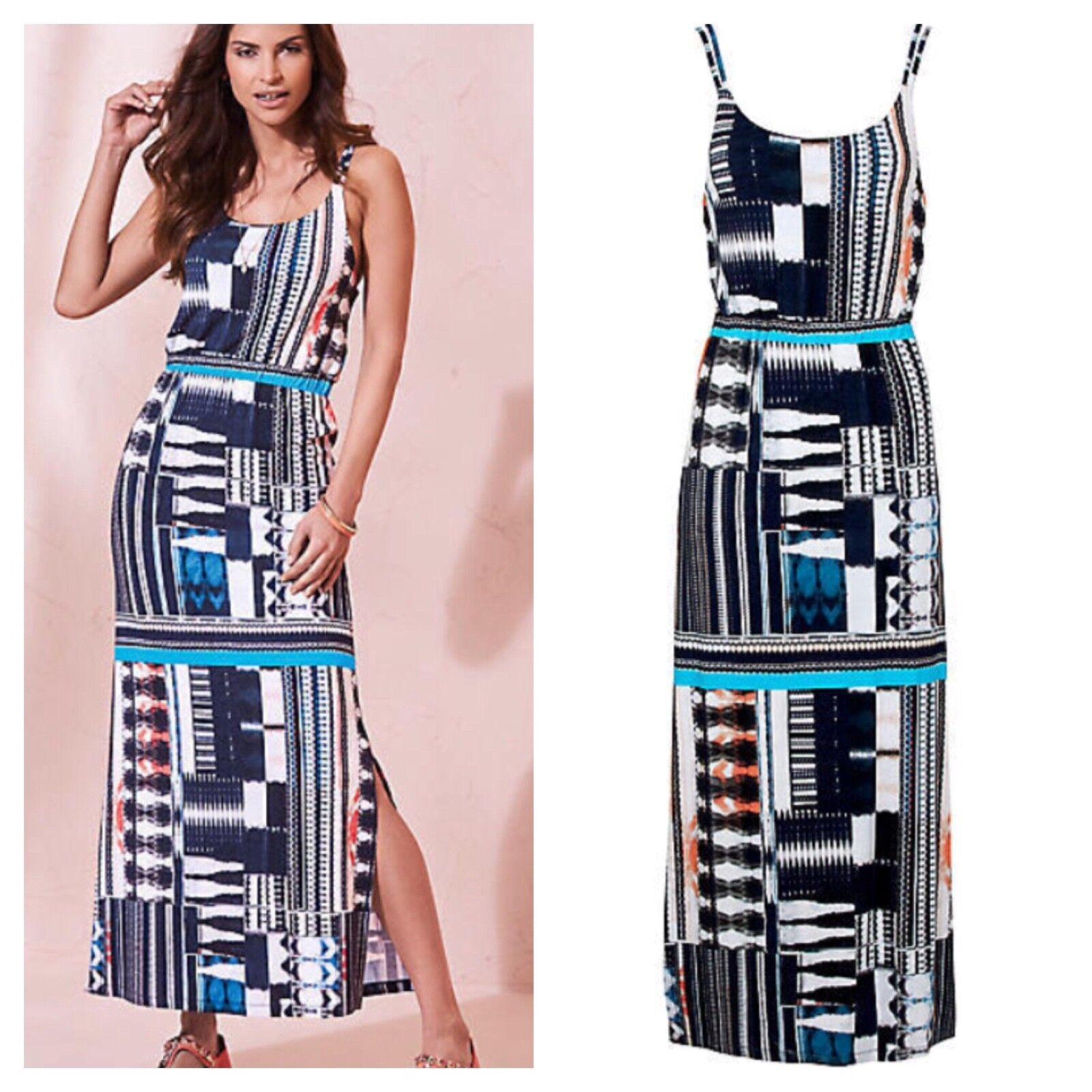 Kaleidoscope Plus Size 20 Multi Print Maxi DRESS Summer Holiday Versatile