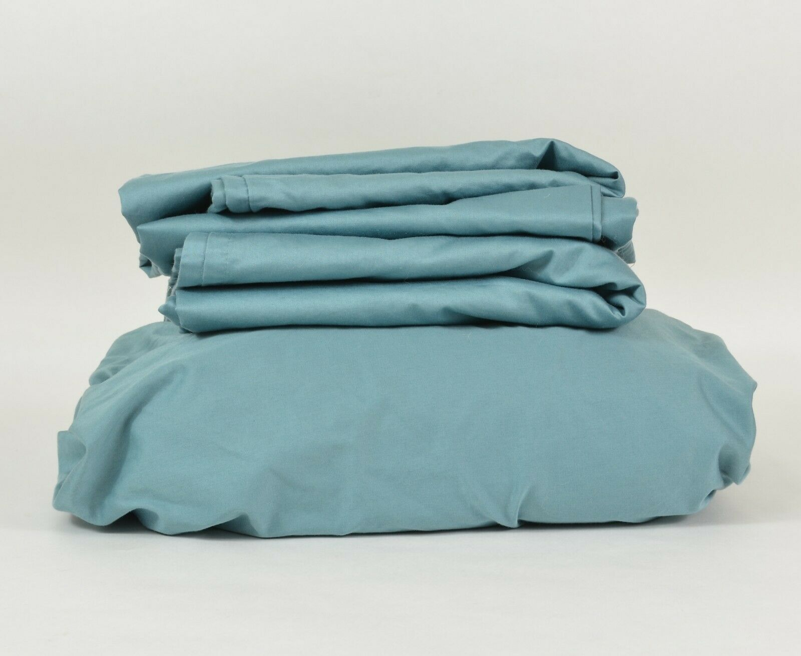 HOTEL STYLE 600 Thread Count Sateen Bedding SHEET Set   FULL blueeeee Puddle COTTON