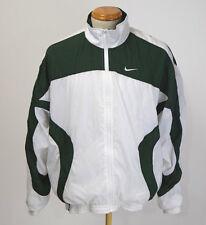 Vintage 90s Nike White Green Windbreaker Jacket Mens L