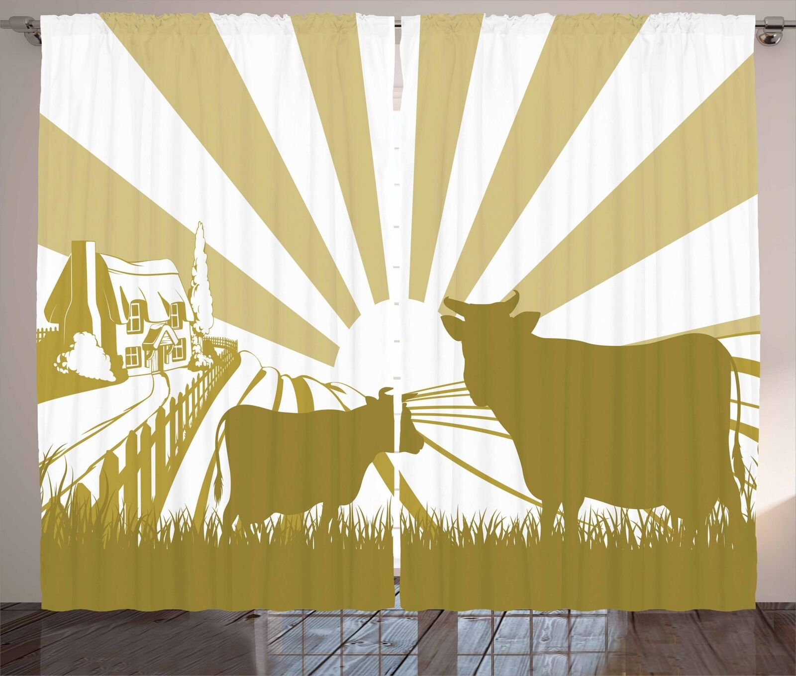 Cattle Curtains 2 Panel Set for Decor 5 Dimensiones Available Window Drapes