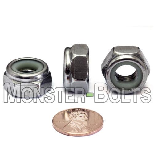 M10-1.5 Stainless Steel Nylon Insert Hex Lock Nut Metric DIN 985 A2-70 18-8