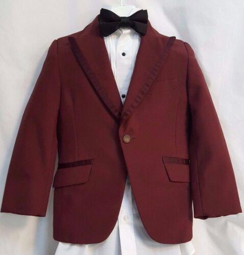 Boys Burgundy Tuxedo Jacket Vintage Retro 1970 Disco Halloween Costumes Tux Kids