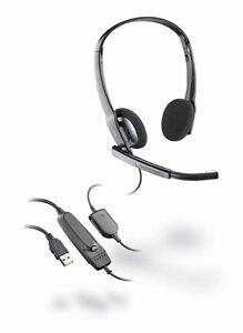 plantronics audio 630m binaural black headband usb computer headset rh ebay com Plantronics CS70 Manual Plantronics BackBeat Fit Manual