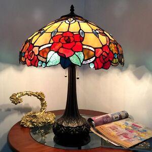 Chloe Lighting Tiffany Style 2 Light Floral Table Lamp Ch15092rf18