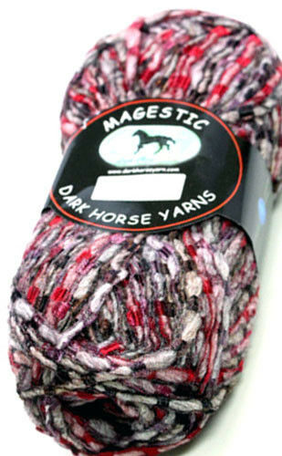 Dark Horse Yarn Magestic Wool Blend Bulky 100g Color Choice Loom Knit Crochet