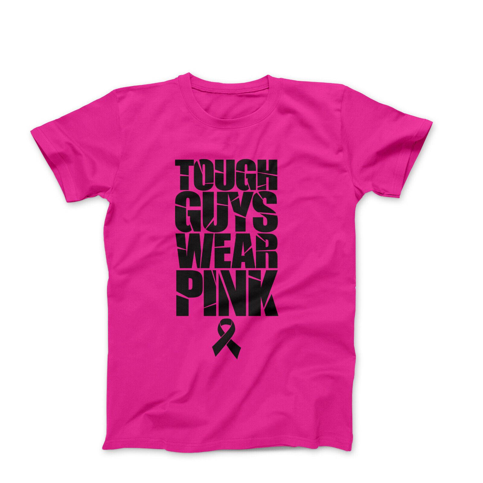 Tough Guys Wear Pink tshirt mens beast cancer shirt beast cancer graphic tees