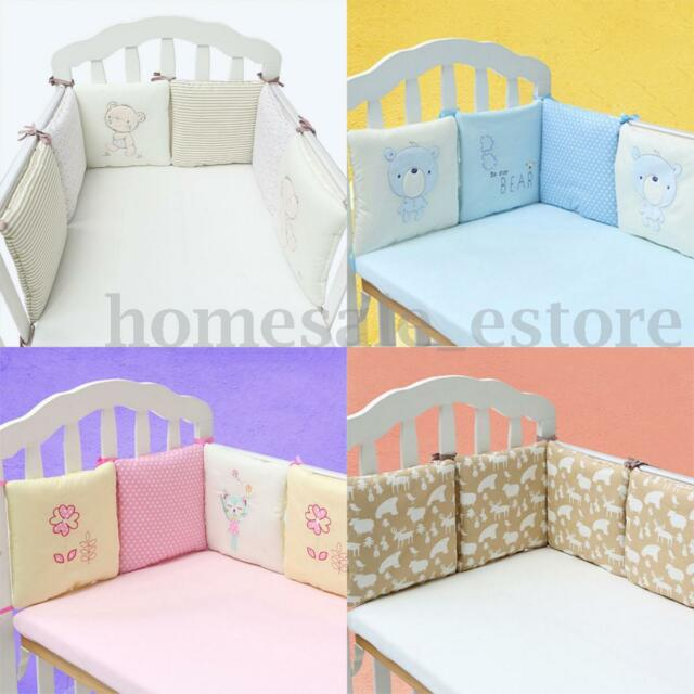 Mickey Mouse Crib Sheet Baby Bedding Cot Set 6PCs Nursery Boy Girl Infant Dis