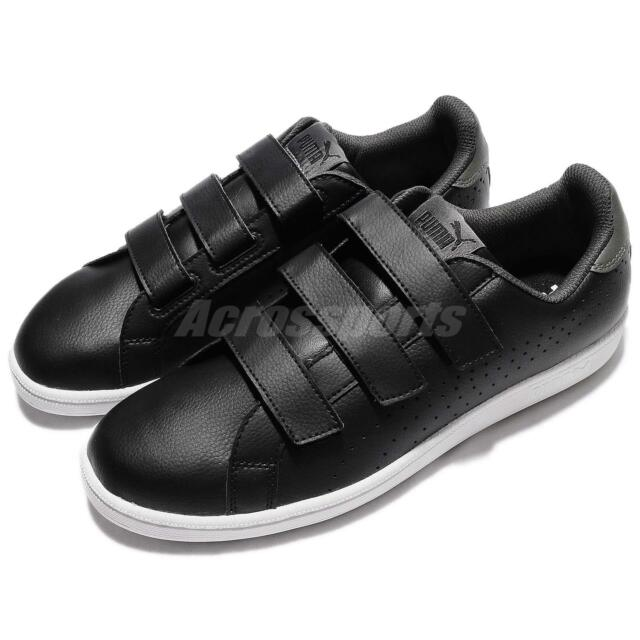 9a8b5566614e Puma Smash Black Dark Shadow Leather Men Women Casual Shoes Sneakers  363723-02