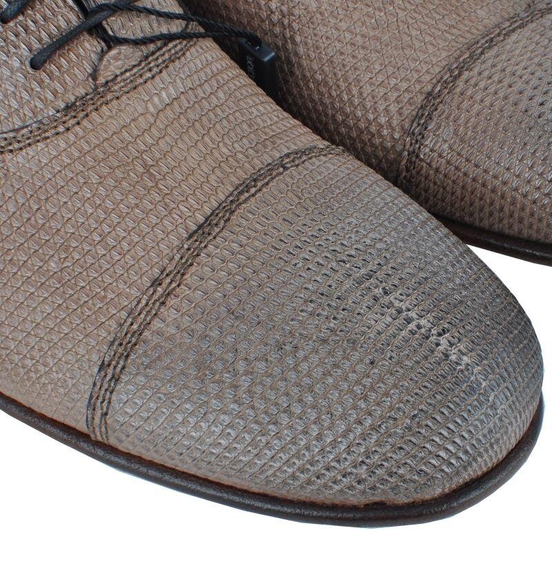 DOLCE & GABBANA Eidechse Braun Schuhe Braun Lizard Schuhes Braun Eidechse Chaussures Brun 02870 631fa9