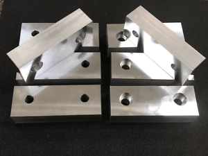 "1 Set 6/""x2/""x1/"" Universal Double Sided Aluminum Soft Jaws Kurt and Others"