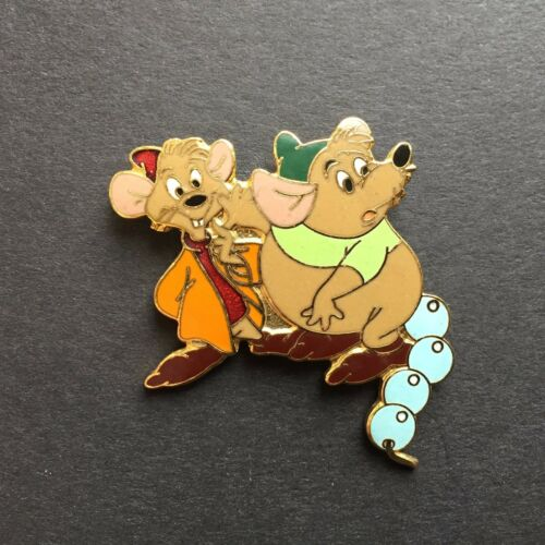 1998 WDW Disneyana Convention Security Gus & Jaq threading pearl Disney Pin 4693