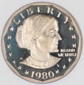 Gem Proof 1980 S Proof SBA Susan B Anthony Dollar