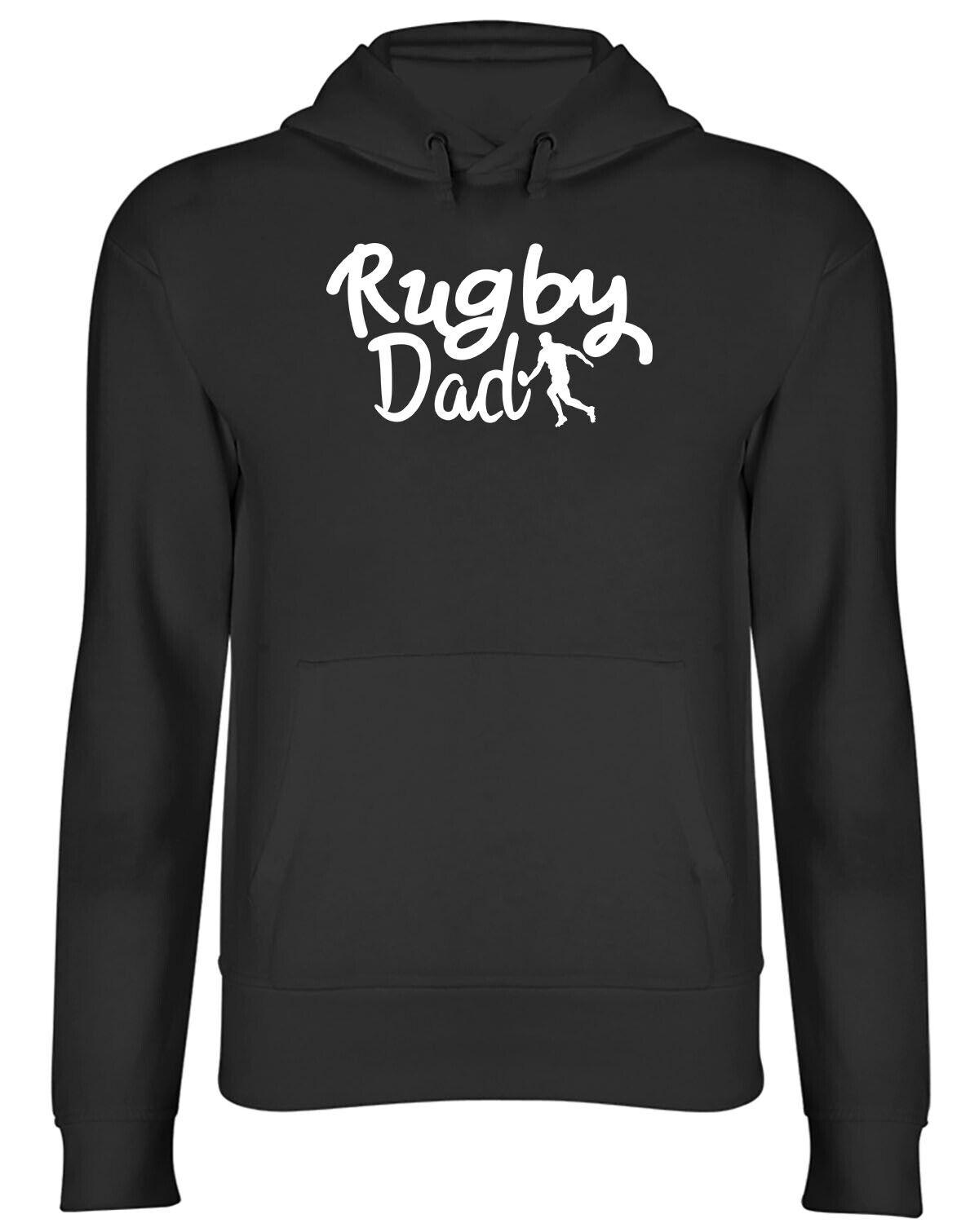 Rugby Dad Mens Womens Hooded Top Hoodie