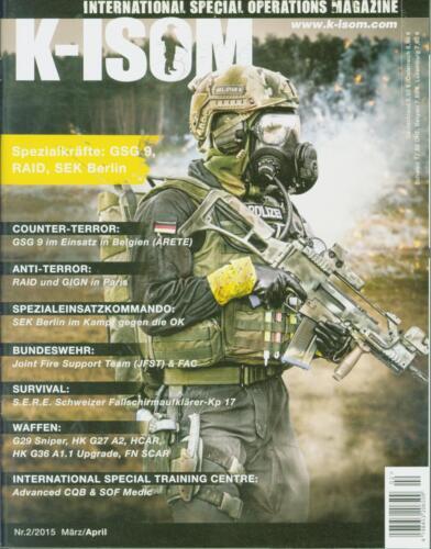 K-ISOM 2//2015 Spezialkräfte Magazin Kommando Bundeswehr Waffe Eliteeinheiten GSG