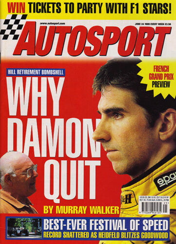 Autosport 24 Jun 1999 French GP, Donington BTCC, Damon Hill, SEAT Cordoba WRC.