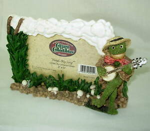nib-3x5-Picture-Frame-Frog-Banjo-music-Cottage-Collectibles-GANZ-Floyd-My-Song