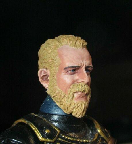 HEAD ONLY Mythic Legion Four Horsemen Custom Painted HEAD ONLY beard