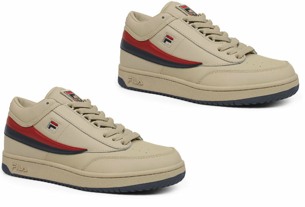 Men FILA Original T-1 MID     CREAM PEACOAT rot  1vt034lx-193 6a27b3