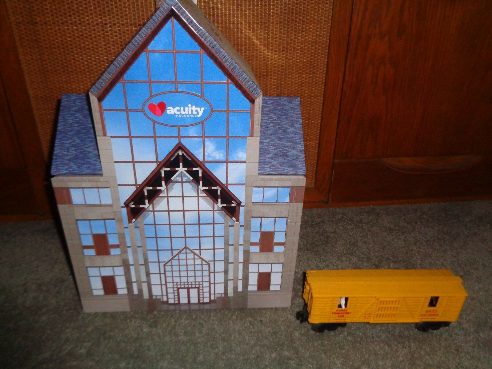 Large tinplate office building for Marx,Lionel or American Flyer train layouts