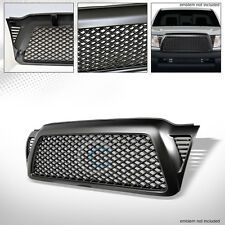 MATTE BLACK DRAGON MESH FRONT HOOD BUMPER GRILL GRILLE COVER 05-11 TOYOTA TACOMA