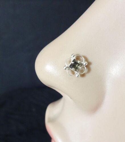 Black Nose Stud 925 Sterling sliver Nose Piercing Tinny Nose Indian Nose Ring