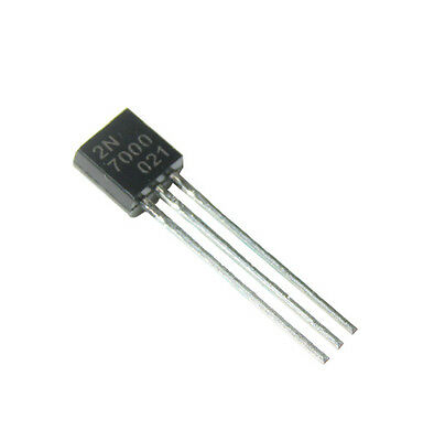 10Pcs New 60V 0.2A 2N7000 TO-92 MOSFET N-CHANNEL Transistor