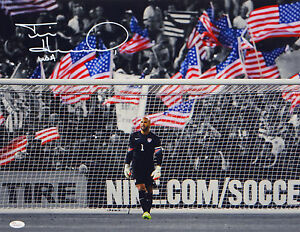 Tim-Howard-USA-Autographed-Team-USA-16x20-Front-View-Photo-JSA-W-Authenticated