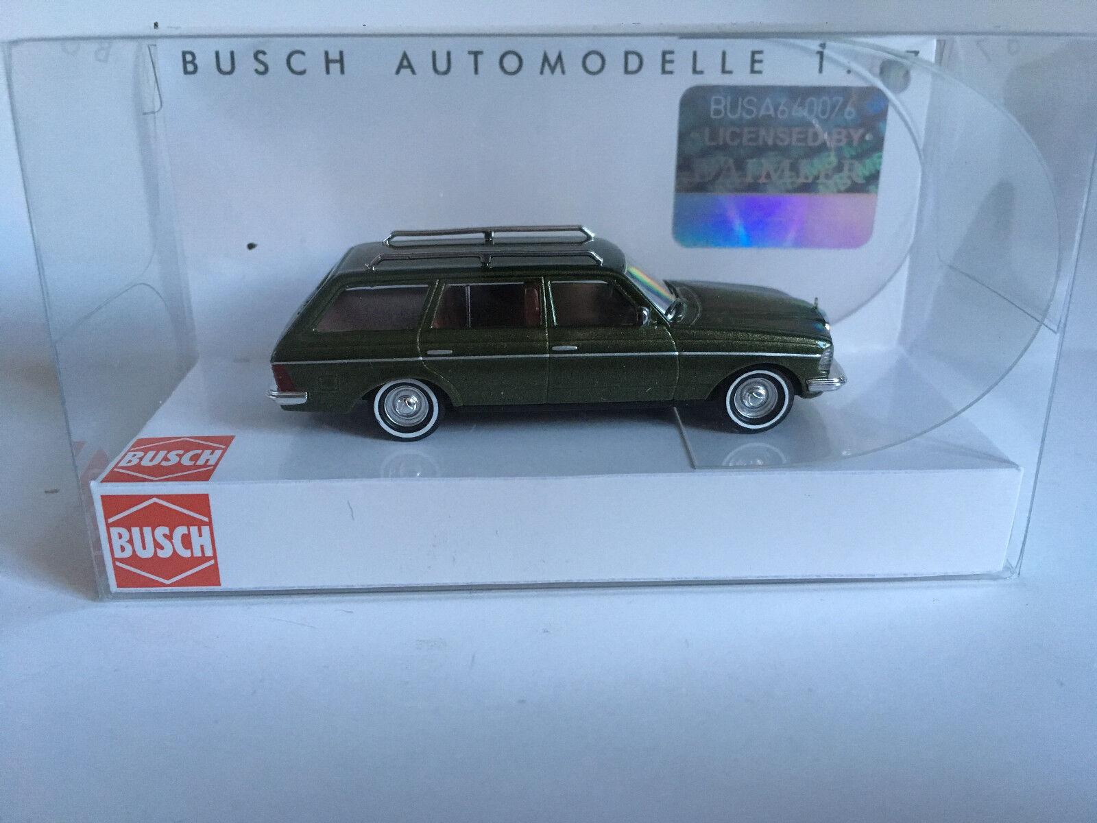 Busch 46812 Mercedes W 123T, Old School, H0 Modelo Modelo Modelo 1 87 85282b