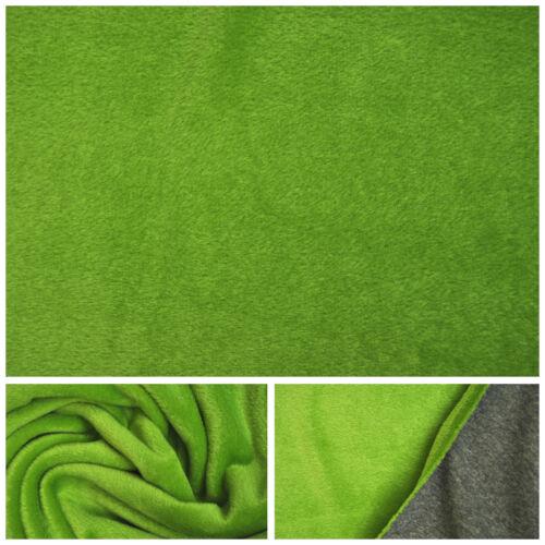 Alpenfleece Melliert Doubleface Alpen Fleece Stoff Stoffe Baumwolle 12 Farben