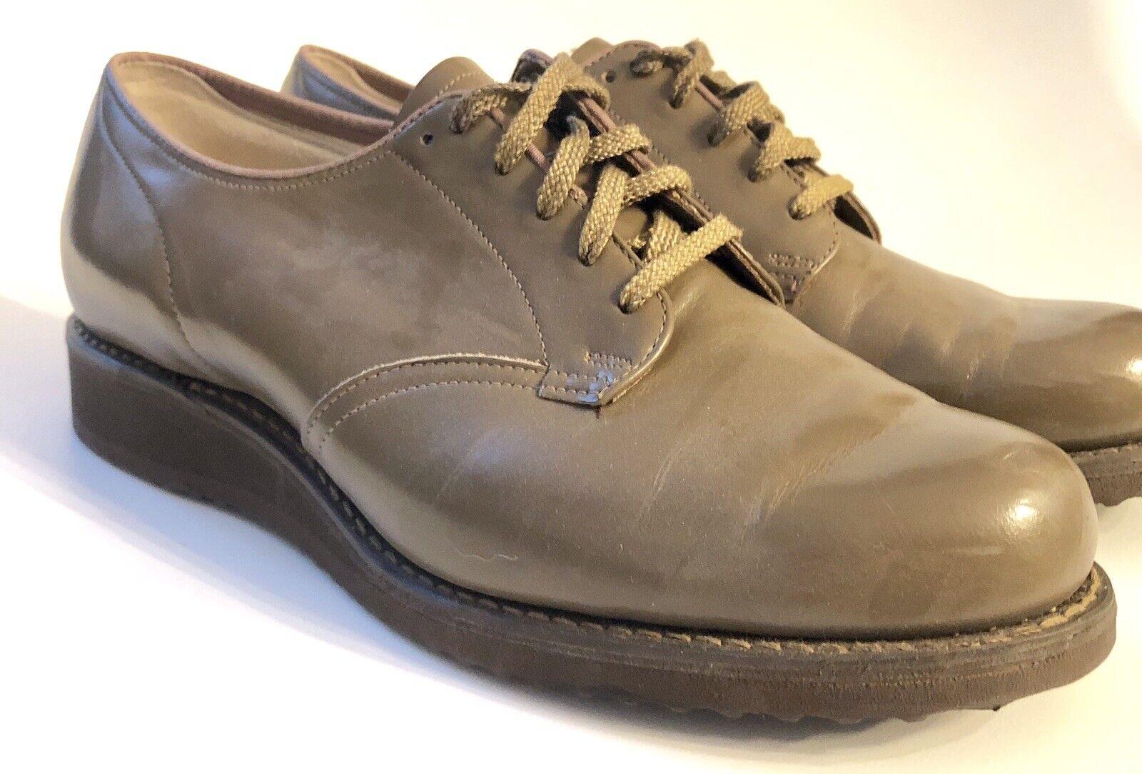 Vintage Mid Century Dr Scholl gående skor bspringaaa läder Storlek 6 C Lace Up Wedge