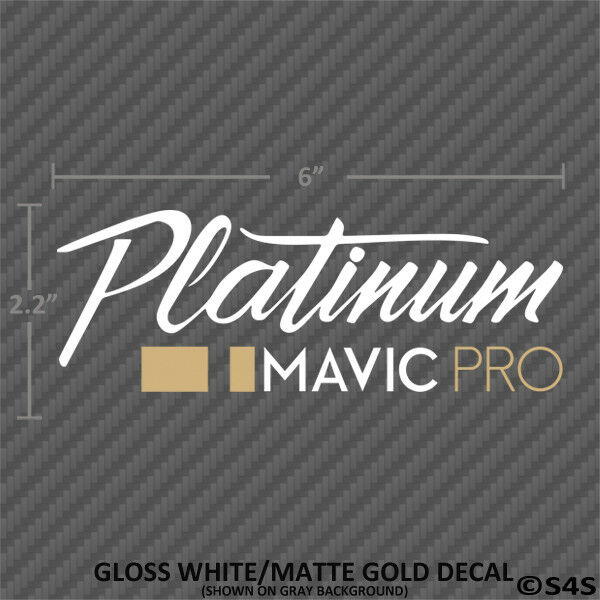 DJI Mavic Pro Platinum Decal White And Matte Gold Drone Quadcopter Sticker