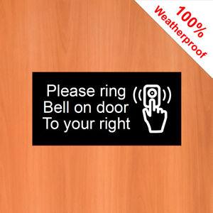 Por-favor-anillo-Campana-en-puerta-a-tu-derecha-Adhesivo-9543-agua-y-disolvente-resistir-3-034-x6