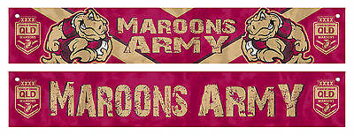 QLD Queensland State Of Origin WINDOW Banner Game Flag Christmas Man Cave Gift