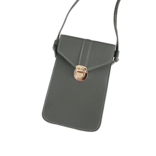 Touchable Change Bag CrossBody Purse Wallet Mobile Phone Shoulder Bag PU Leather